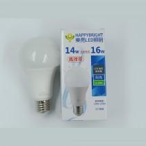 LED全周光14W球燈泡(3入) (可選白光/黃光)